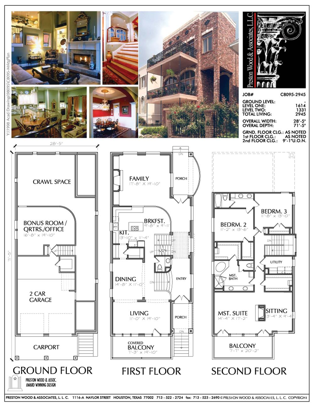 Three Story Urban Home Plan Ac8095 Narrow Lot House Plans Narrow House Plans Split Level House Plans