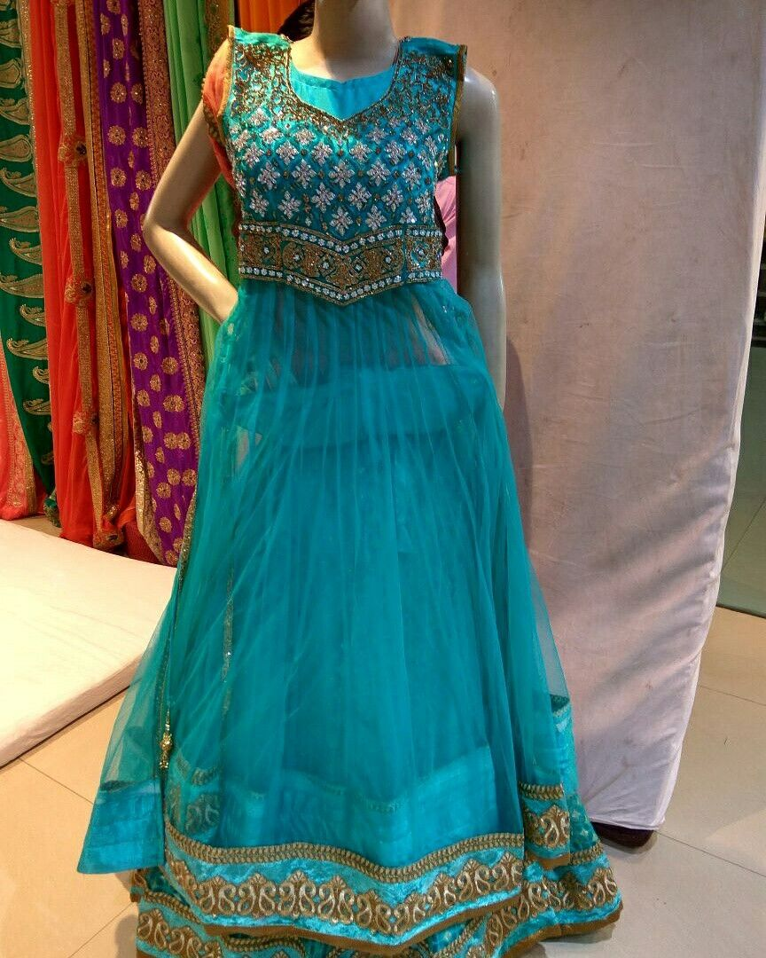 2d74a500d8 designer firozi indowestern bajirao mastani style lehenga suit avaiable  indiantrendz store pathankot. shop now or get lehenga dress at rent. ...