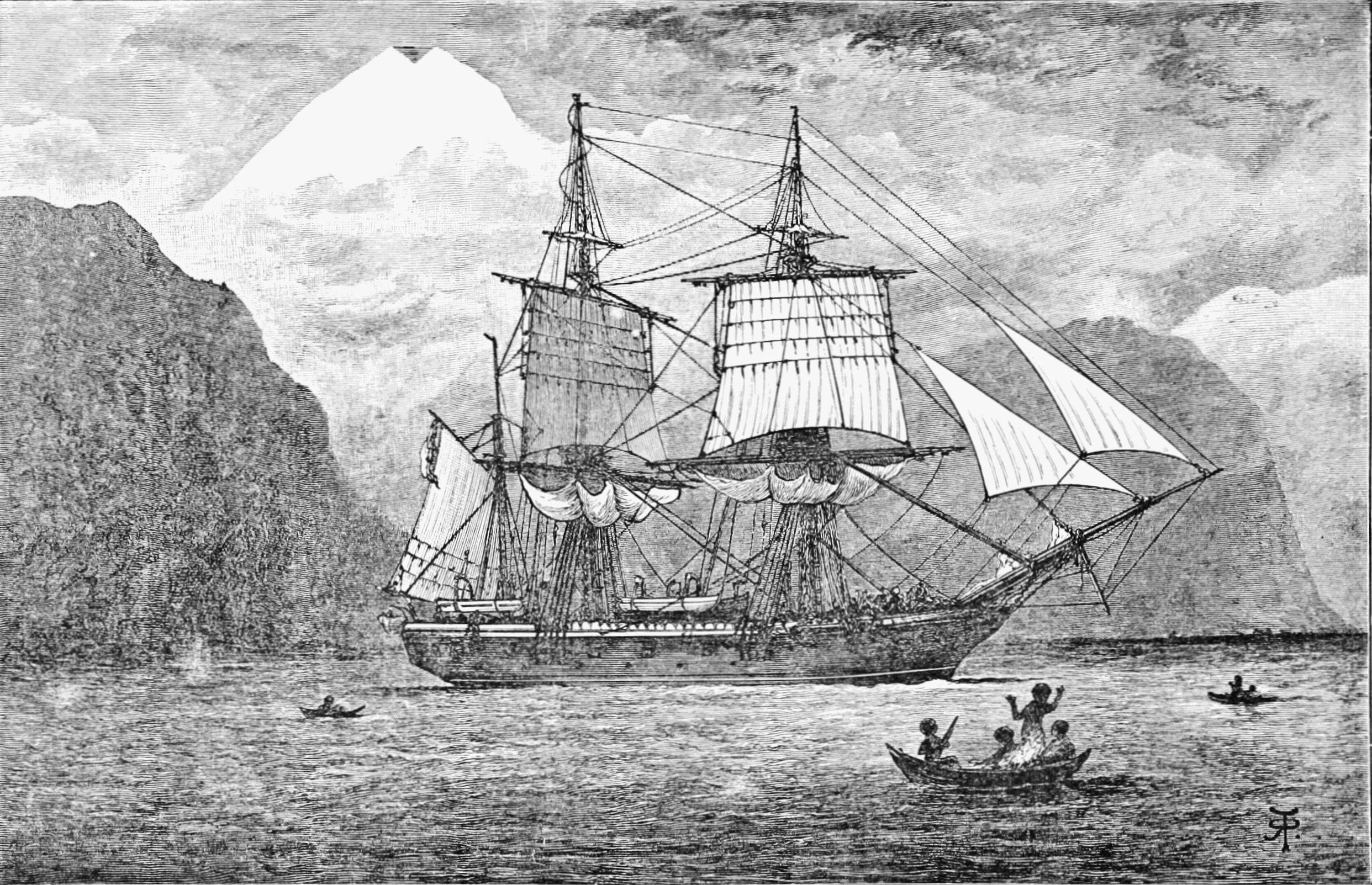 Hms Beagle Charles Darwin Strait Of Magellan