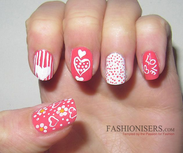17 Love-Inspired Valentine's Day Nail Art Designs That Will Make You Go On  a Date - 17 Love-Inspired Valentine's Day Nail Art Designs That Will Make