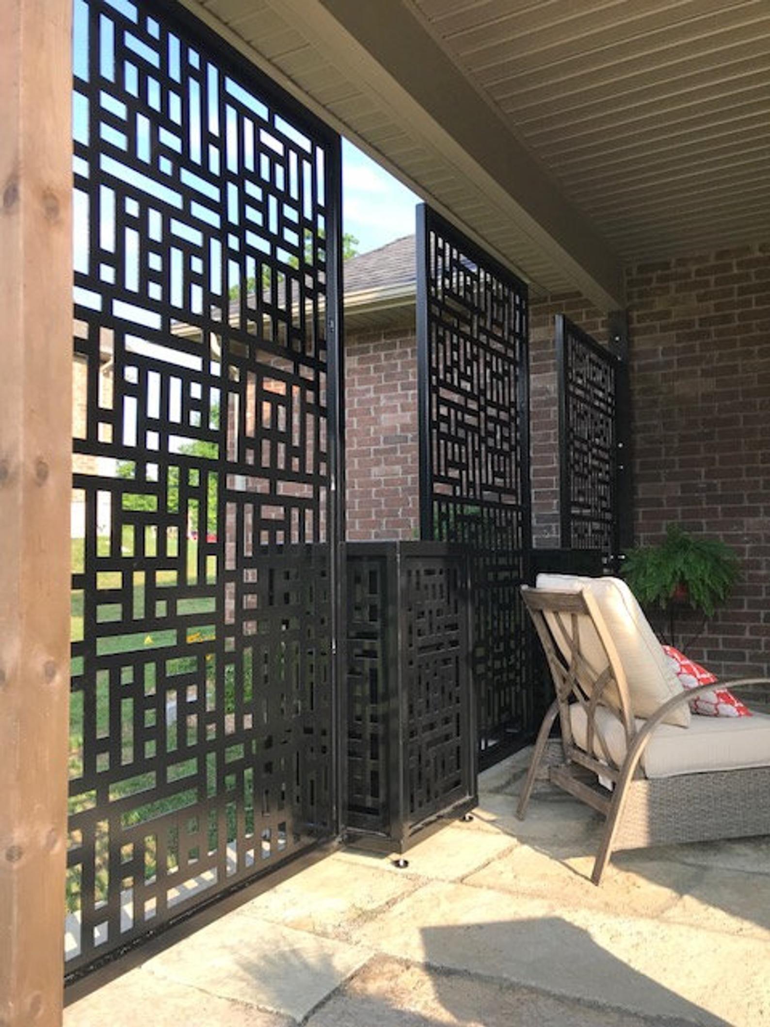 ABSTRACT3 - Privacy Screen Metal Garden Fence Topper Decor ...