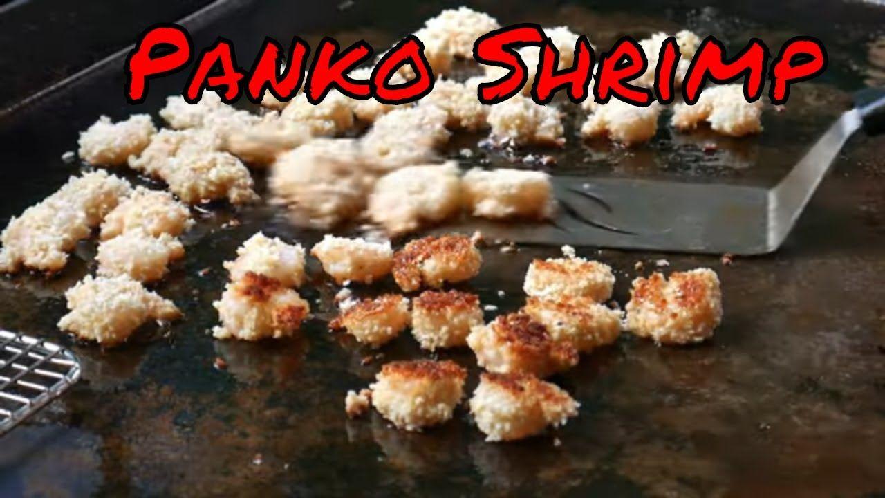 Easy panko crusted shrimp on the blackstone griddle food