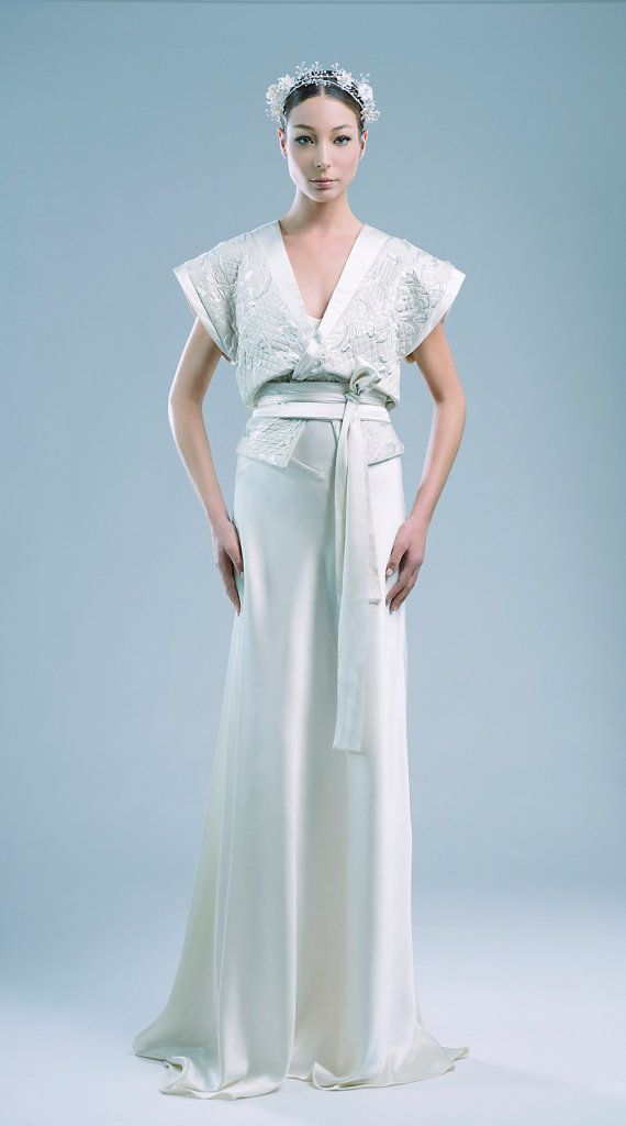 Brillante couture wedding dress set 2 in 1 limited edition unique ...