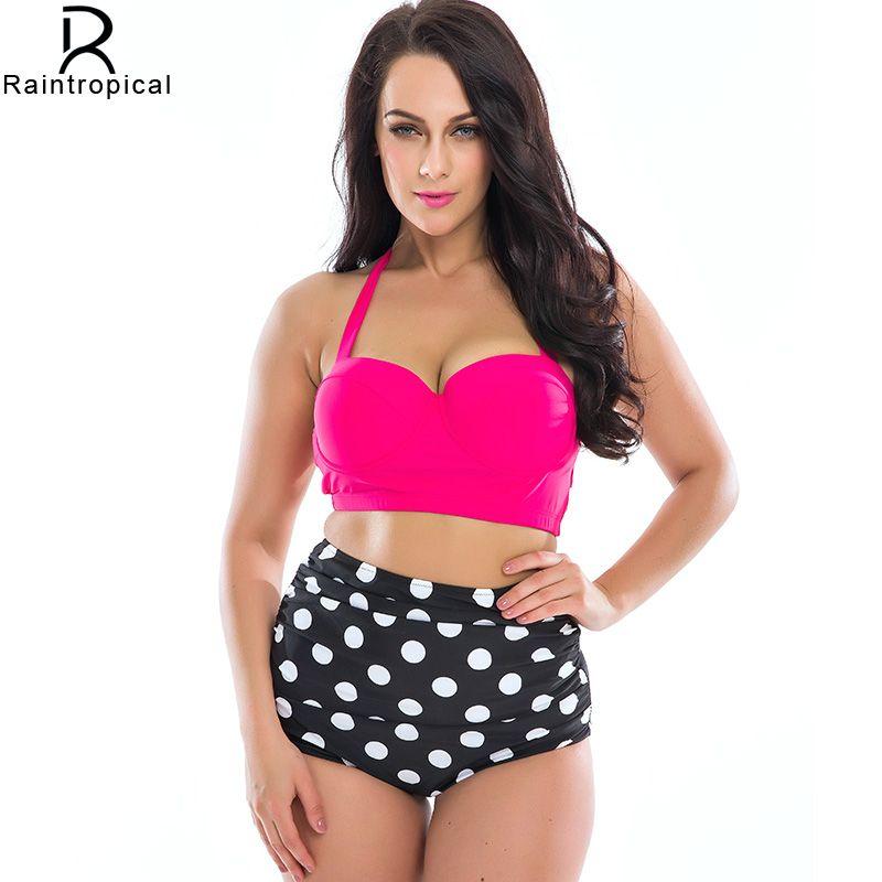 sale on2016 new bikinis women plus size swimwear high waist