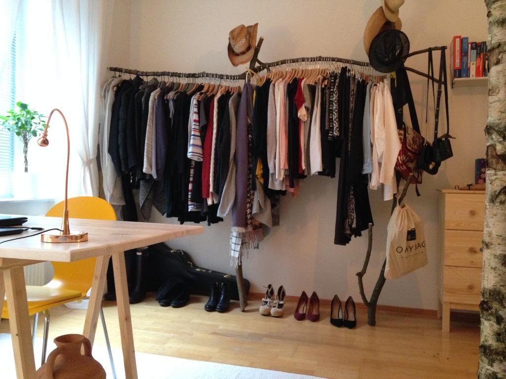 Diy Kleiderstange kreative kleiderstange aus ästen zum selbstbauen diy