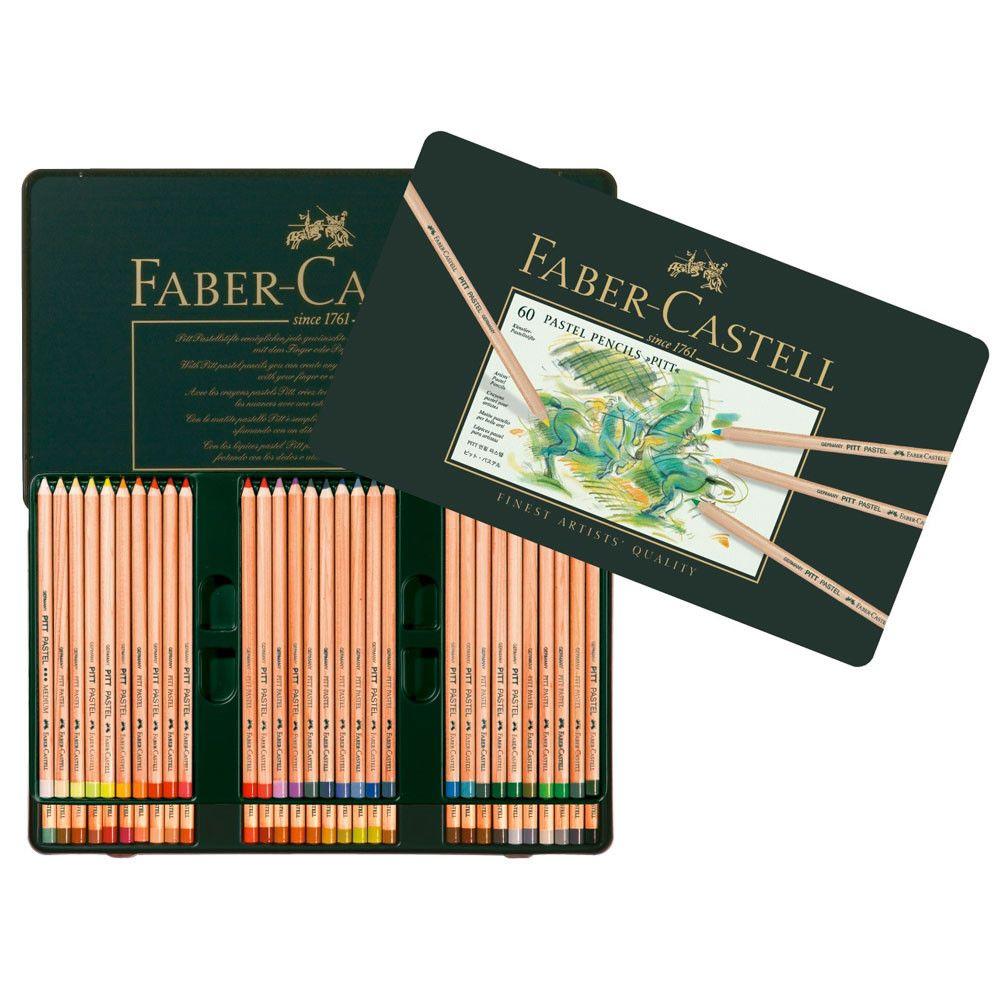 Faber Castell Pitt Pastel Pencil Metal Tin Set Of 60 Pastel