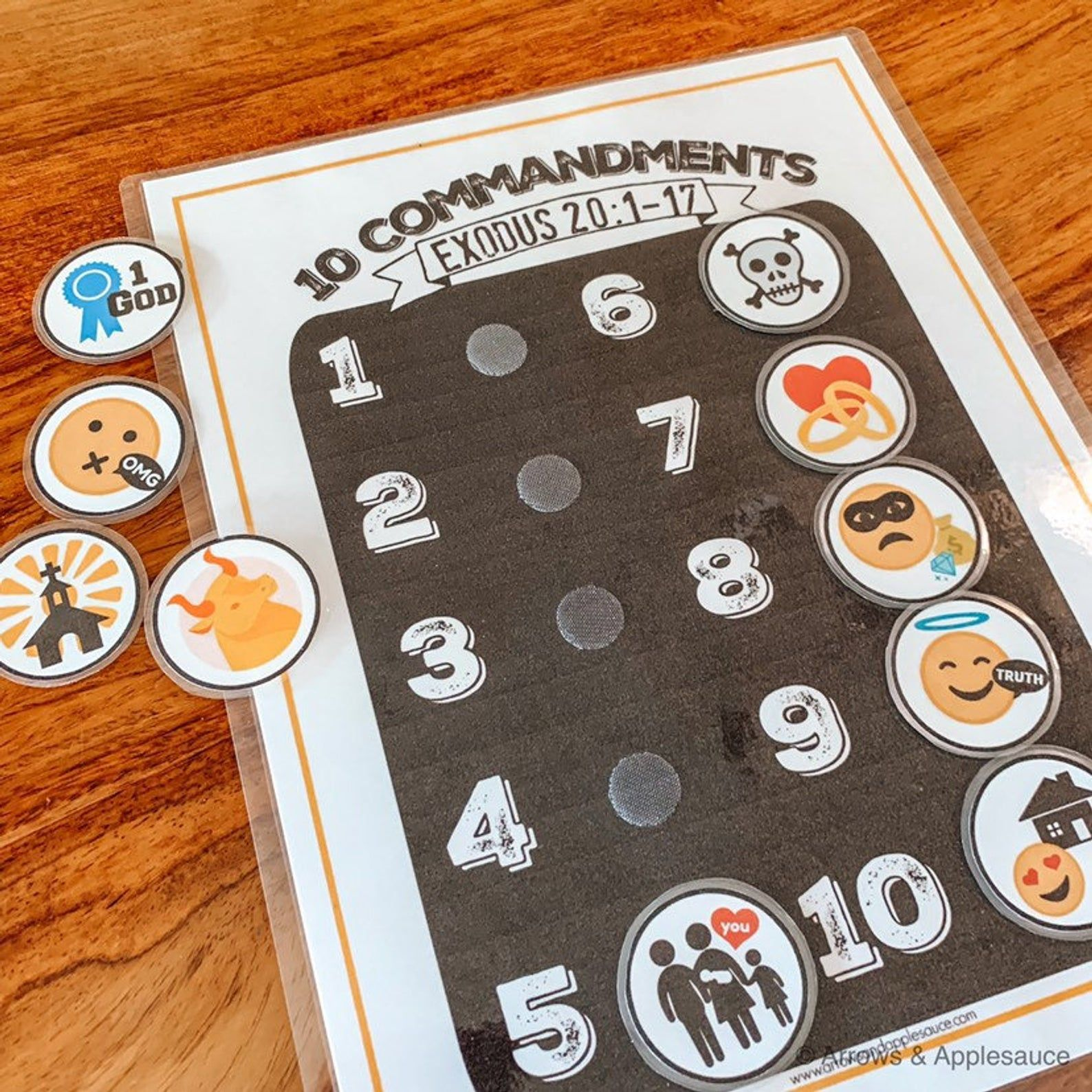 Ten Commandments Printable Memory Game Kids Activity