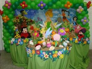 Tinkerbell party decorations from httpwwwtipskidspartycom