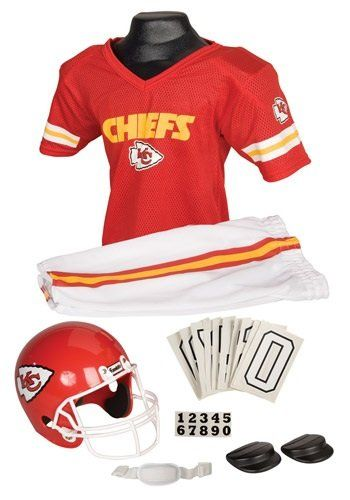 1b487f5b Everything your family will need to dress up as a Kansas City Chiefs  football player for Halloween. Kansas City Chiefs Halloween costume ideas  for kids and ...