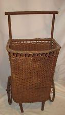 Used Shopping Carts Ebay Antique Wicker Wicker Basket