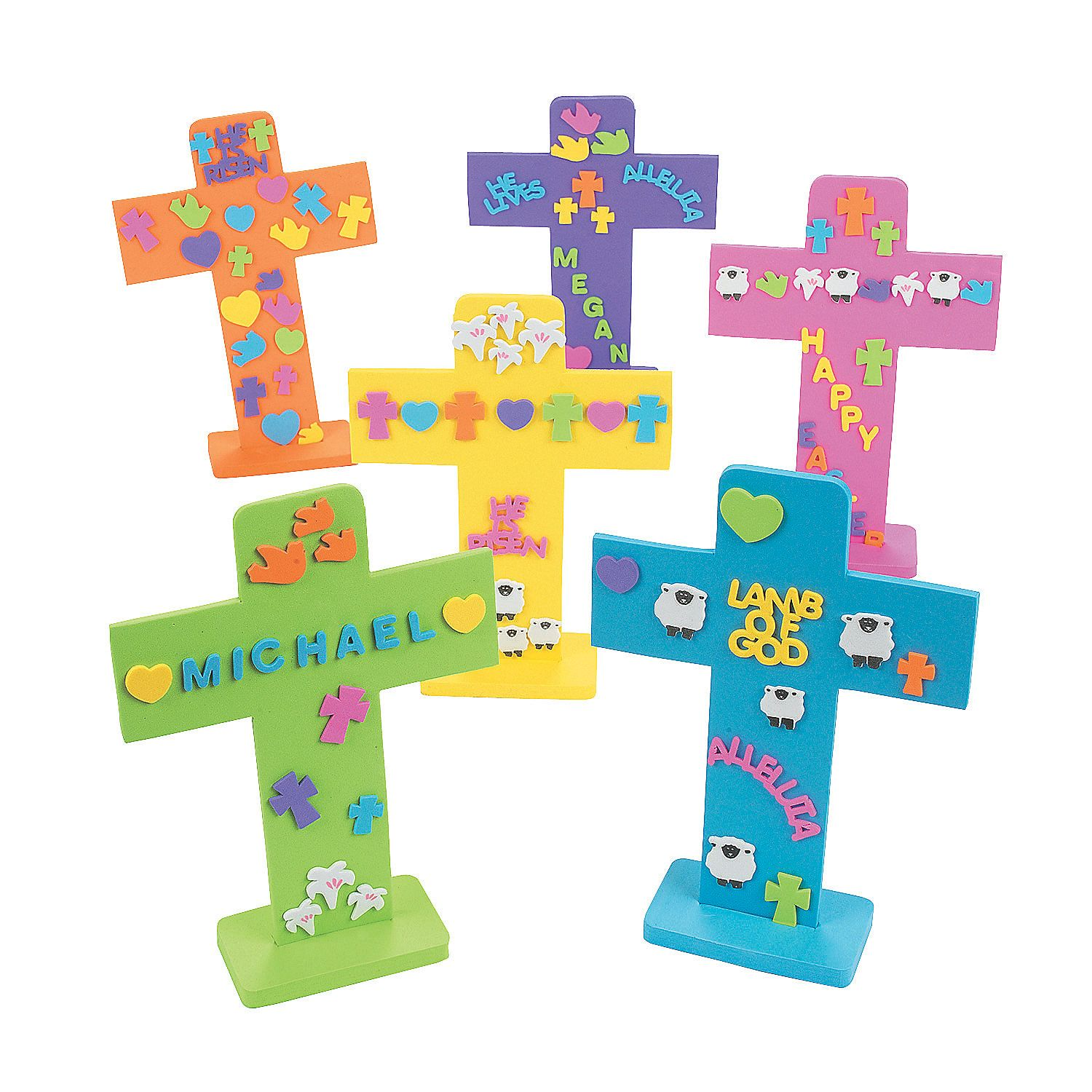 Easter Crosses With Stickers Bible Craft Kit Orientaltrading Com In 2020 Easter Crafts To Make Easter Crafts Easter Cross