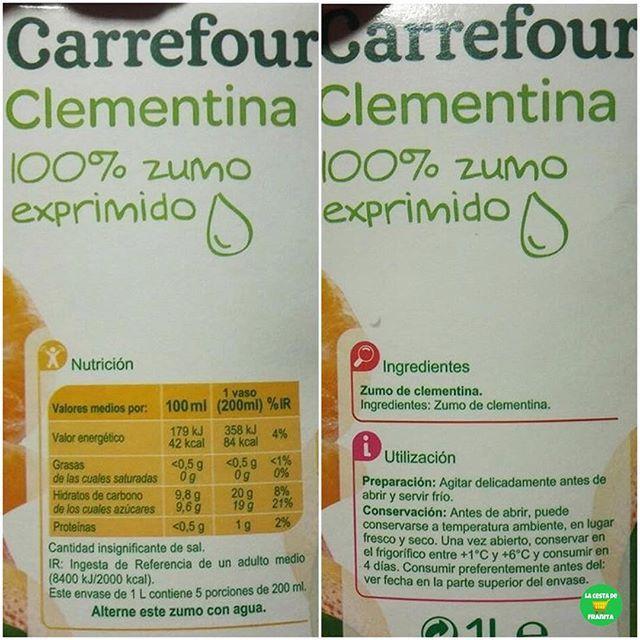 Zumo De Clementinas 100 Exprimido Supermercado
