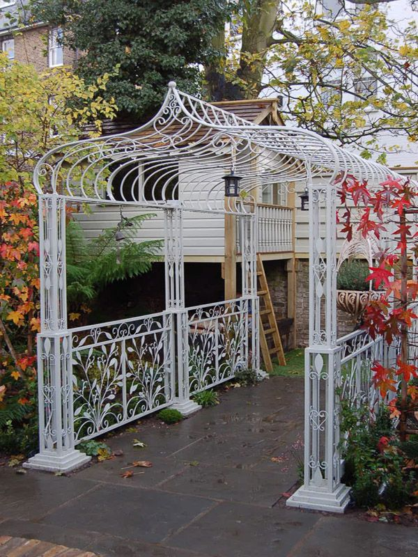 Depiction of The Wrought Iron Pergola for an Exciting and ...