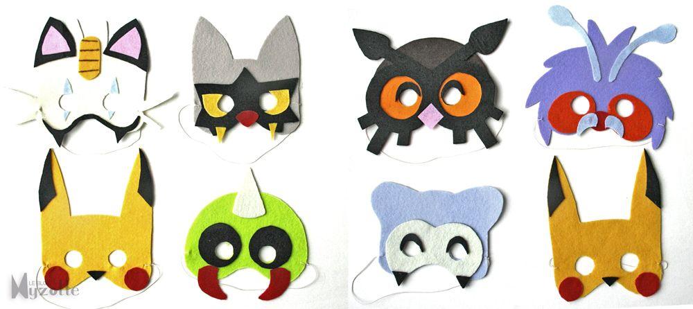 { Free Printable } Pokemon Mask For KID à Faire En Feutrine Ou à Colorier !