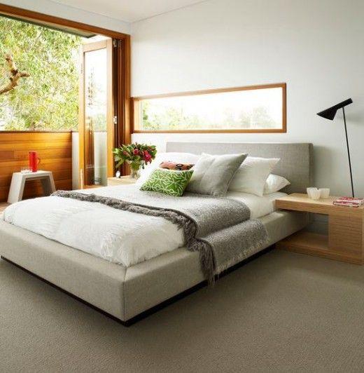 dormitorio moderno y luminoso