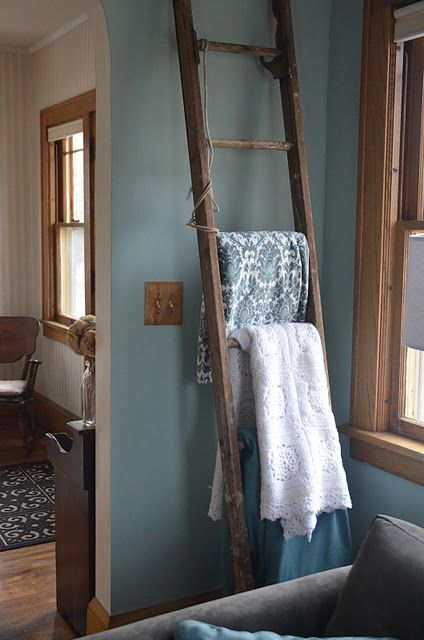 Antique Wooden Ladders To Hang Blankets Or Such On Home
