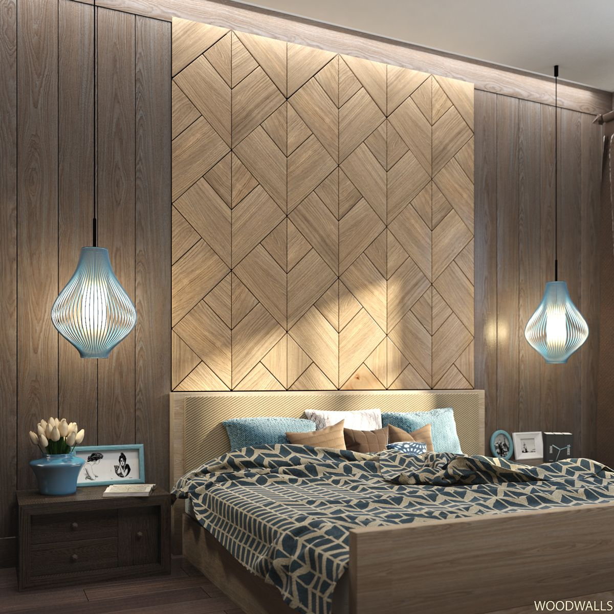 WOODWALL Tulip : wood panels for bedrooms on Behance | bed ...