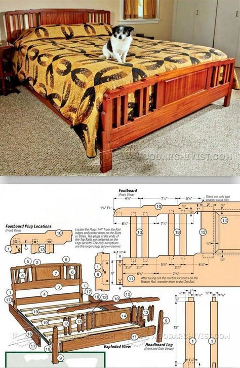 Arts And Crafts Bed Plans Furniture Plans And Projects Woodarchivist Com Arts And Crafts Interiors Woodworking Furniture Plans Patterned Furniture