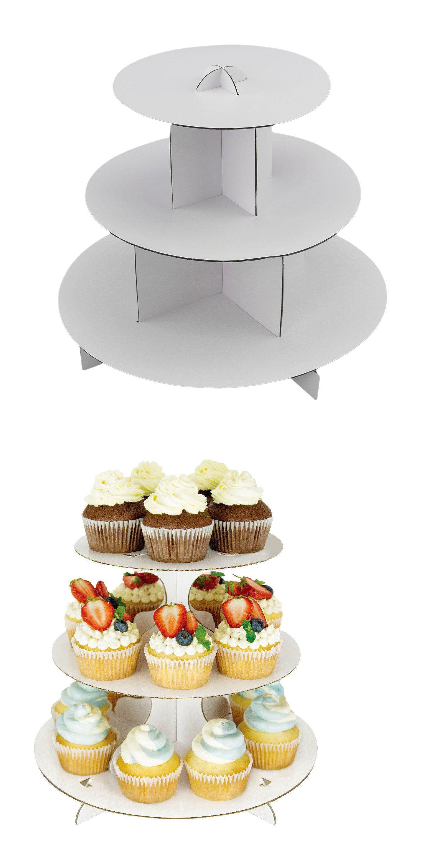 Details About 2pc Cupcake Display White Round Cardboard Pastry Dessert Tower Stand Cupcakes De Navidad Fiesta De Nube Decoracion De Cumpleanos