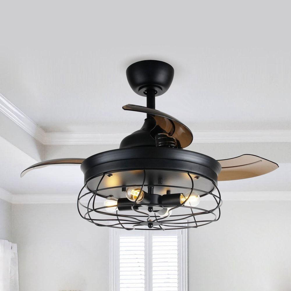 Ceiling Fans In 2021 Ceiling Fan With Light Ceiling Fan With Remote Caged Ceiling Fan Flush mount industrial ceiling fan