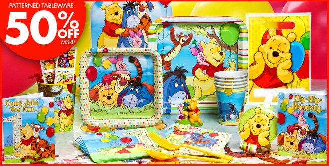 Pooh and Pals Party 1st Birthday Party Supplies at party city