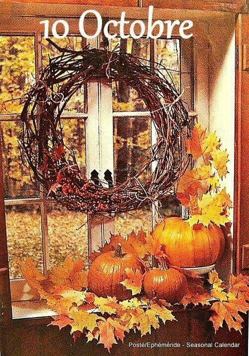 Ephemeride Seasonal Calendar Fall Decor Fall Home Decor