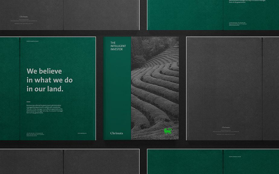 Visual identity and print for Chrimata designed by Anagrama.