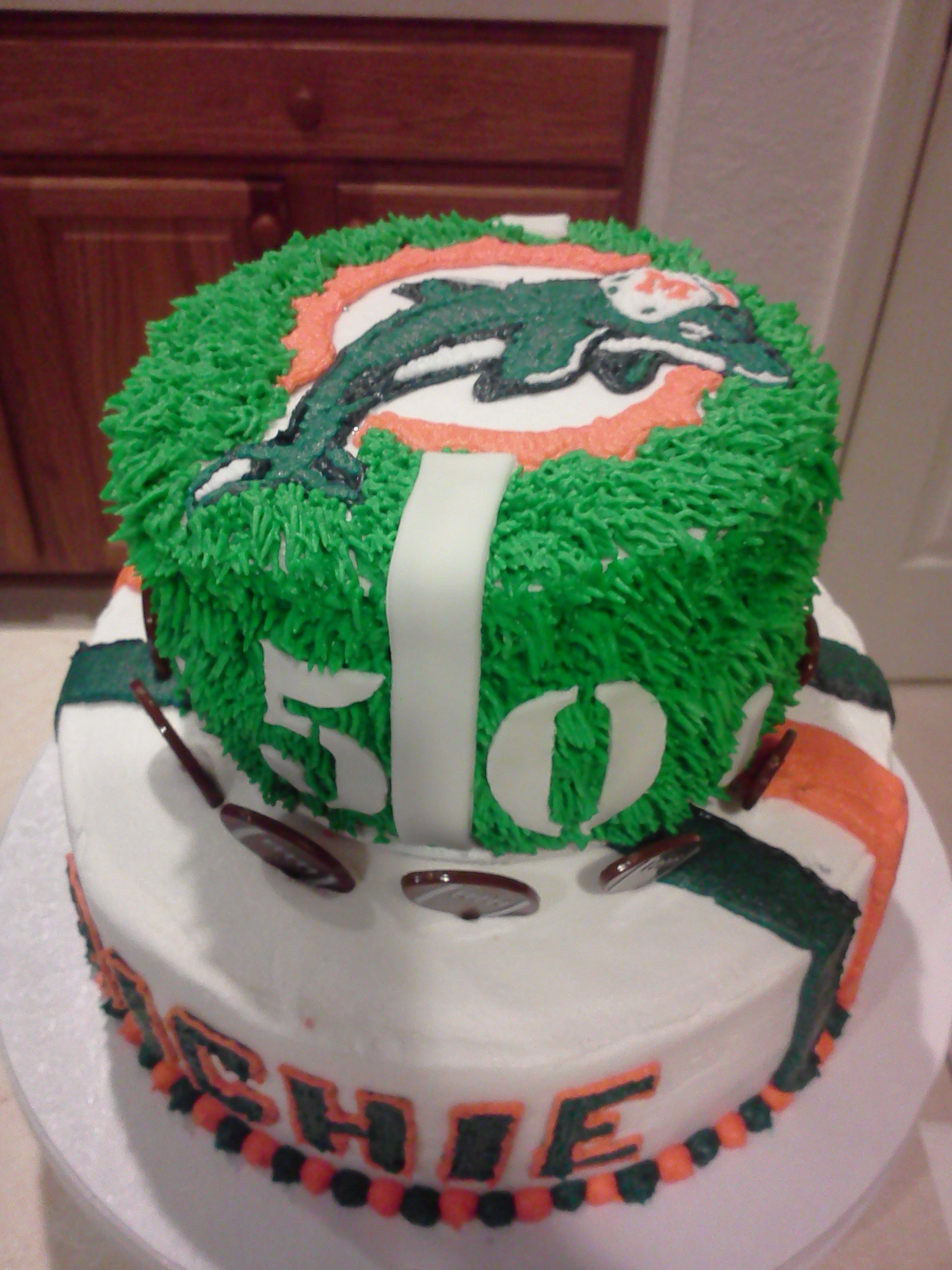 Super Miami Dolphins 50Th Birthday Cake With Images Dolphin Cakes Personalised Birthday Cards Paralily Jamesorg