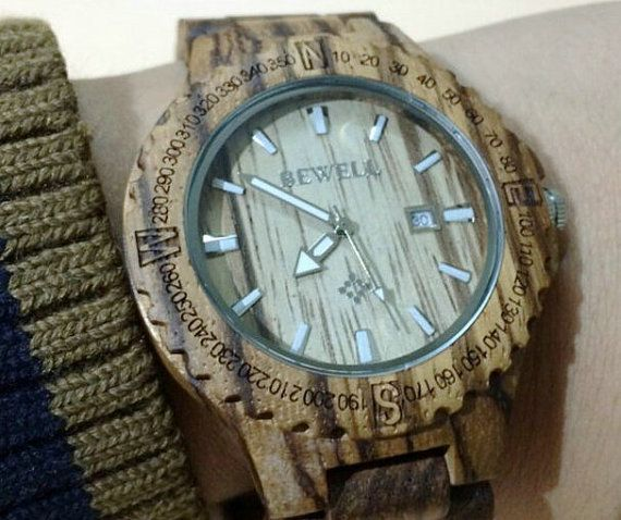 Wood watch men watches the wooden watches gifts for by haoloevyou