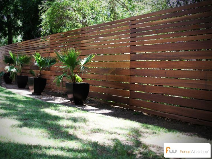 Another View Of A Beautiful Contemporary Style Wood Privacy Fence