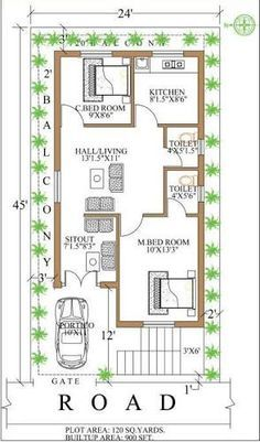 Image Result For 900 Sq Ft House Plans 900 Sq Ft House Square House Plans 2bhk House Plan