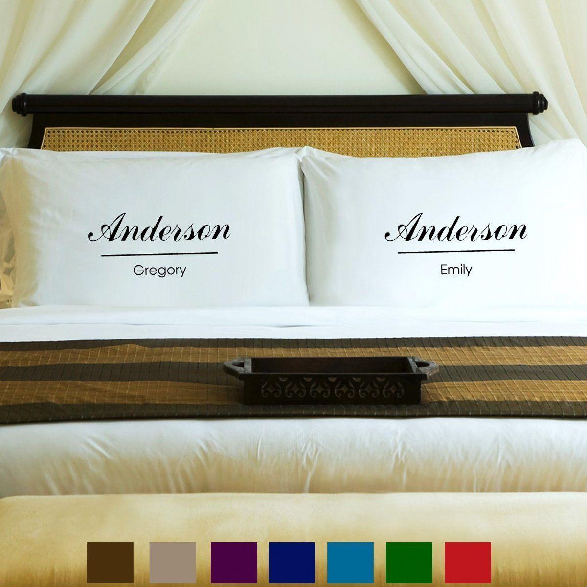 Couples Pillow Case Set - Classic Personalized Free : Couples Pillow Case Set . : Couples Pillow Case
