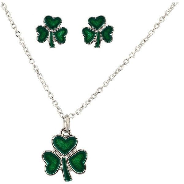 Lux Accessories Three Leaf Heart Clover Saint St Patricks Day Necklace 9 95