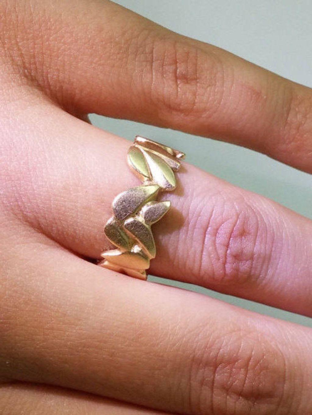 Gold Band, Bridal Ring, Solid Gold Ring, 14K Gold Band, Statment ...