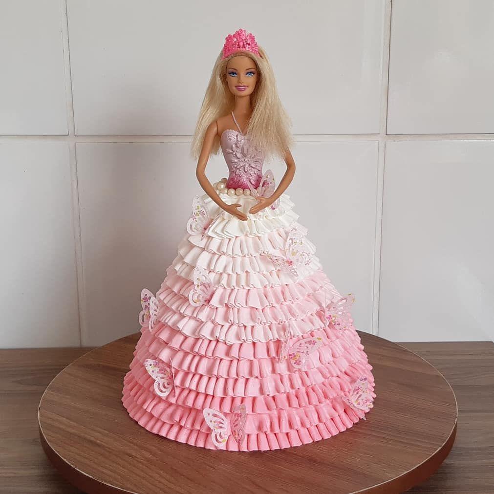 Bolo da Barbie: 75 sugestões lindíssimas e tutoriais para fazer o seu