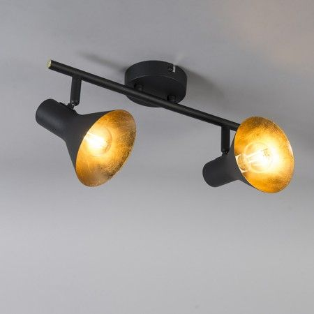 Modern Ceiling Spotlight 2 Black With Gold Magno Spotlight Lamp Ceiling Trio Lighting Modern Ceiling