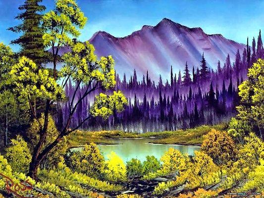 Imagenes De Paisajes Para Pintar Al Oleo Para La Sala Montaña