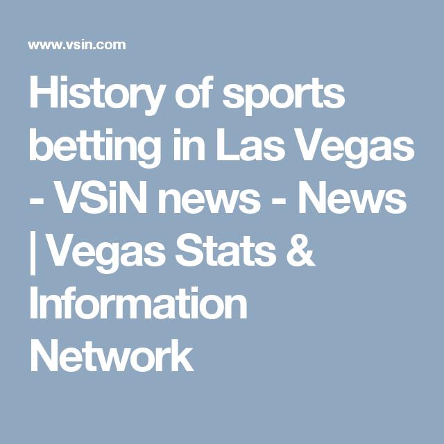 Las vegas sports betting history bodog live betting not working
