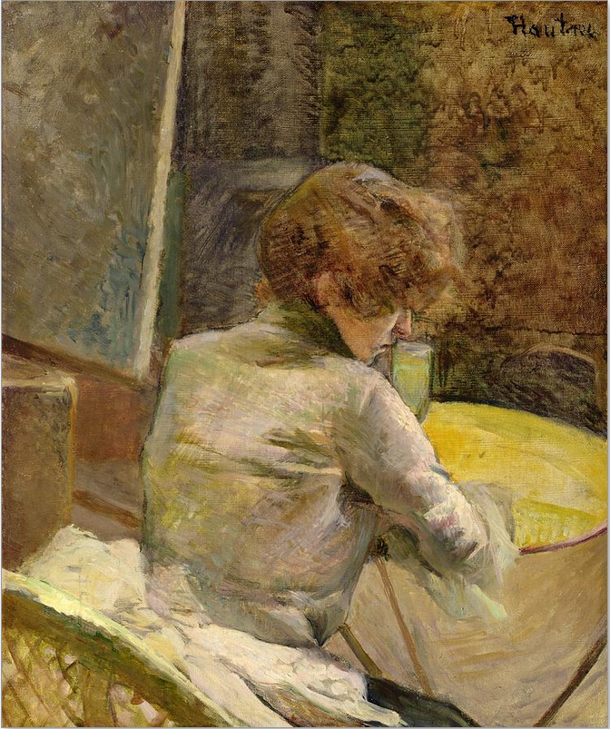 Title: Waiting At Grenelle  Artist: Henri de Toulouse-Lautrec  Medium: Painting - Oil On Canvas