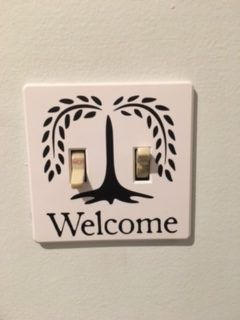 Easy way to decorate light switch covers