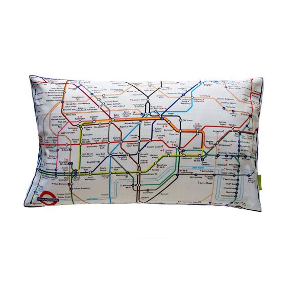 London Tube Map Cushion