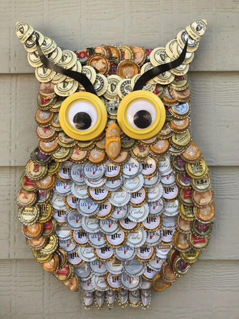 Bottle Cap Art - Owl