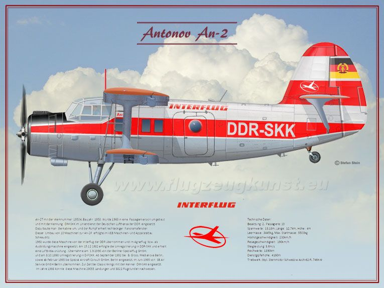 An-2T, Serial No.: 19504, 1958,  www.flugzeugkunst.eu