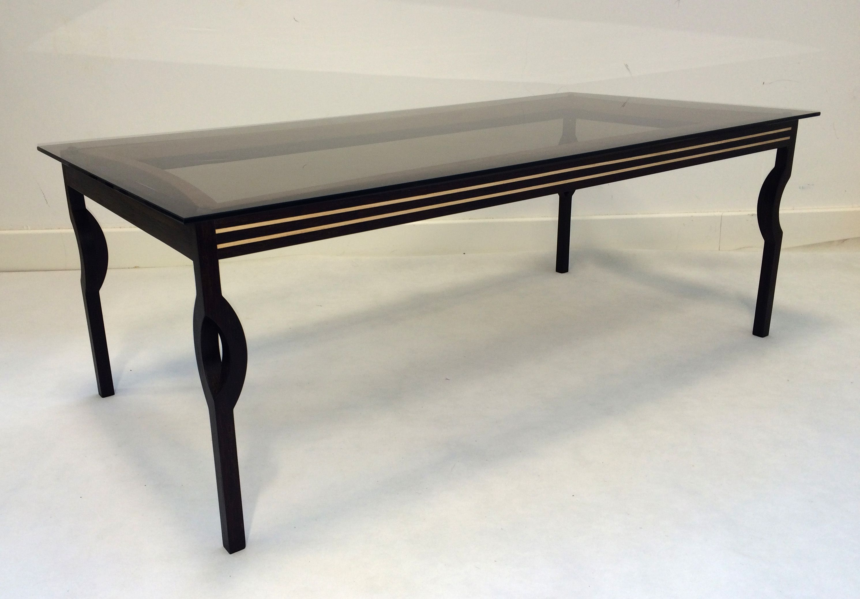 Timboo coffee table Made from a bamboo sheet material with beech
