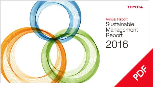 Toyota Global Site  Annual Report Sustainable Management Report