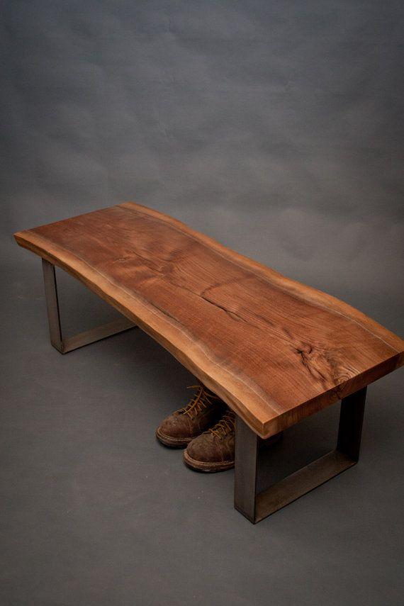 live edge black walnut bench sturdy simple by elpisworks projects pinterest bench woods. Black Bedroom Furniture Sets. Home Design Ideas
