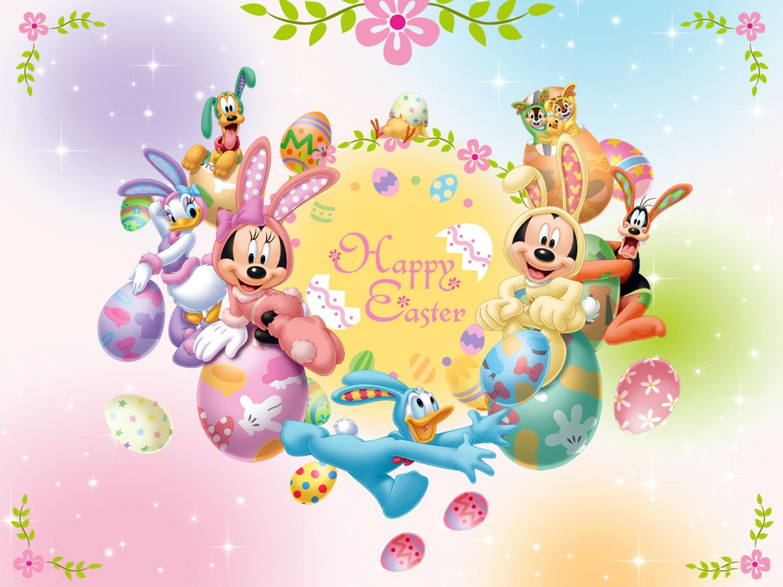 Image detail for mickey_mouse_and_friends_easter Easter