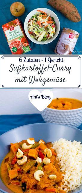 schnelles Süßkartoffel-Wokgemüse Curry für das du nur 6 Zutaten brauchst – An…