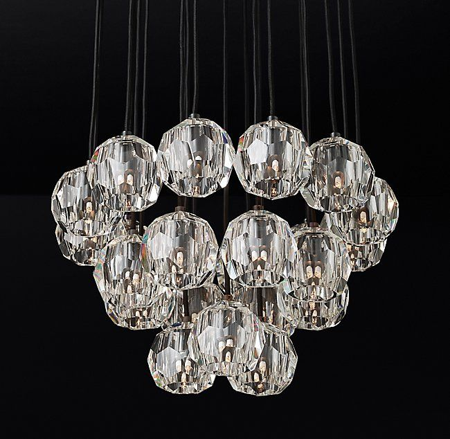 Boule De Cristal Round Cluster Chandelier 24