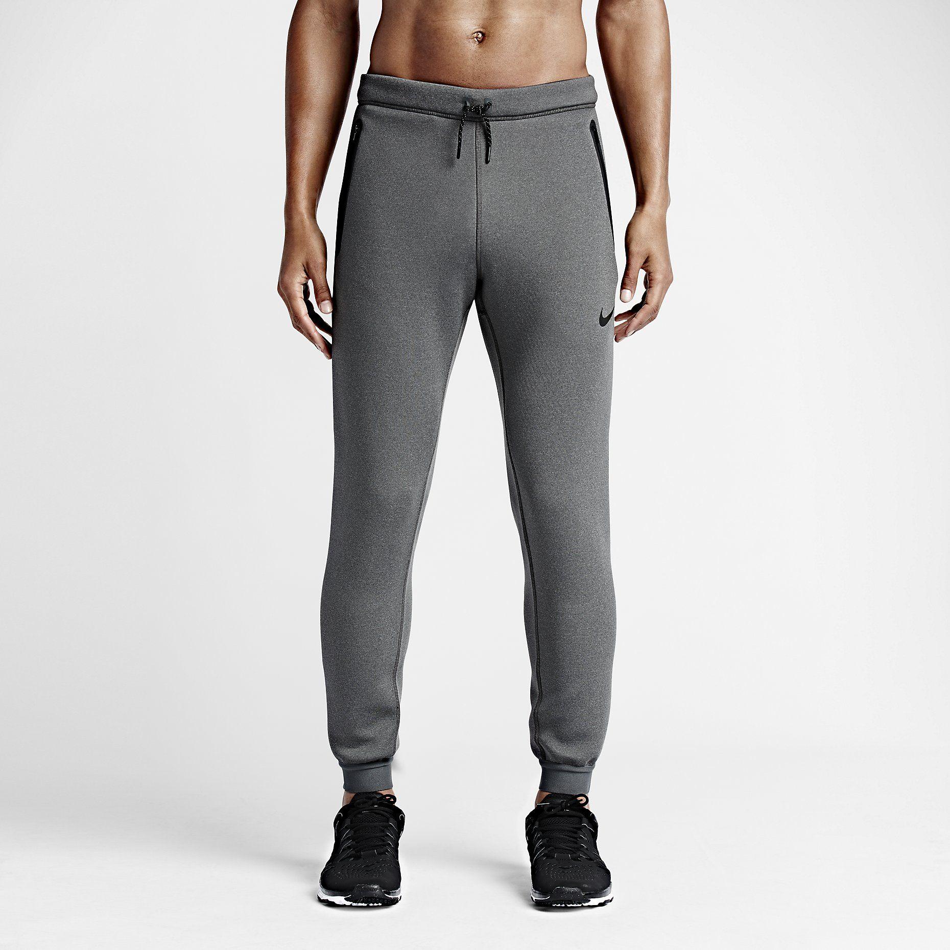 Nike Therma-Sphere Max Men's Training Pants Charcoal Heather/Dark Grey/Black